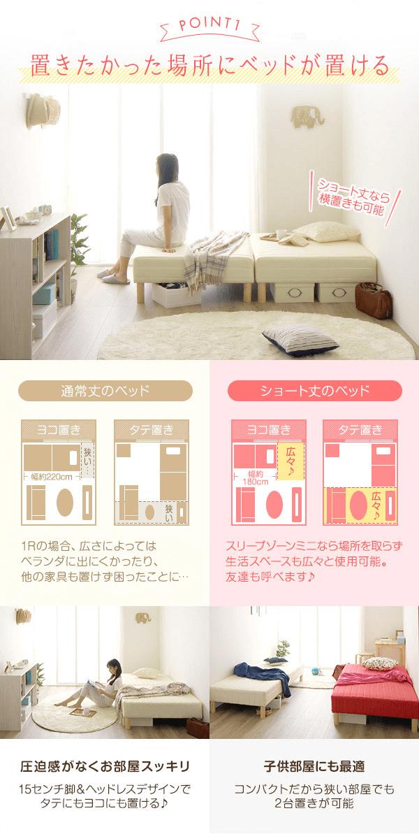 女性の一人暮らしのベッドショート丈がおすすめの理由