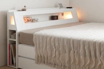 女性の一人暮らしにちょうど良いサイズのベッド画像