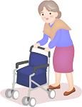 歩いている高齢者の画像
